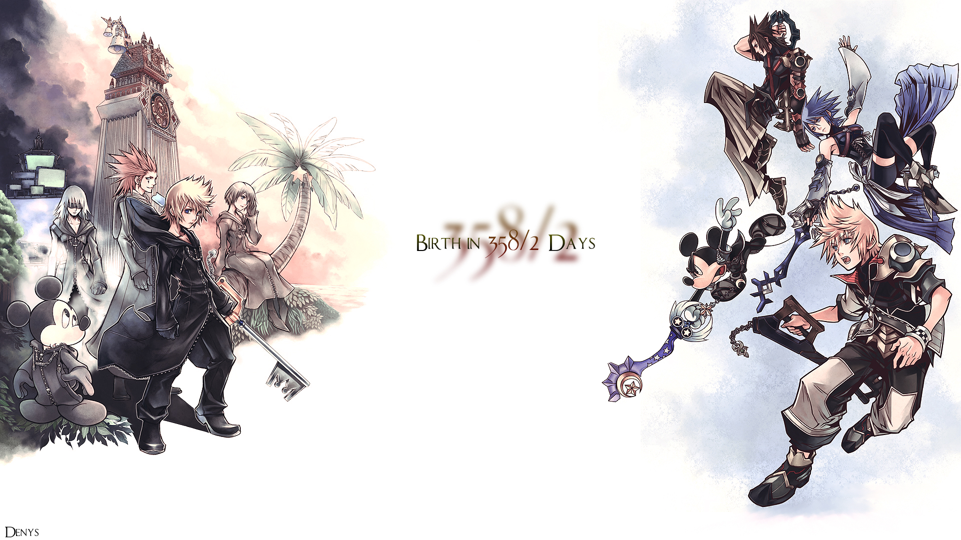 Kingdom Hearts 358 2 Days Wallpaper Zerochan Anime Image Board