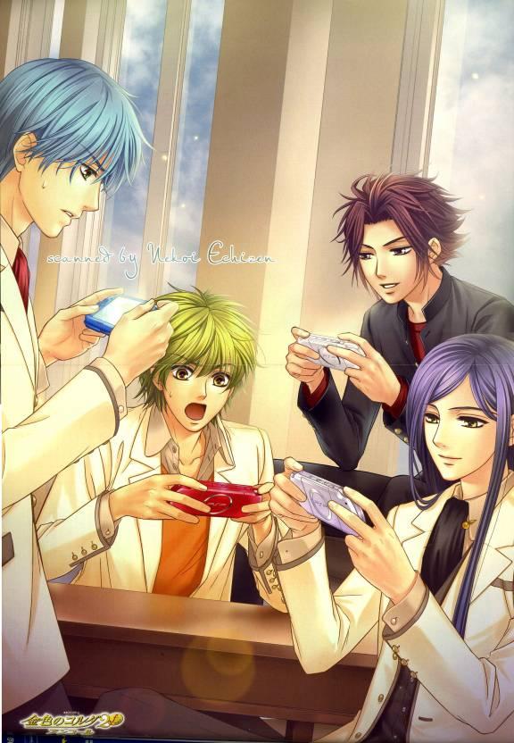 Tags: Anime, Kiniro no Corda, Hihara Kazuki, Tsukimori Len, Etou Kiriya, Yunoki Azuma, PSP, Mobile Wallpaper, Official Art, La Corda D'oro