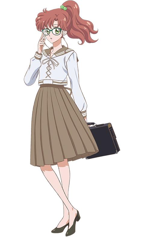 Tags: Anime, Takahashi Akira, Toei Animation, Bishoujo Senshi Sailor Moon, Kino Makoto, Brown Skirt, Holding Bag, Mobile Wallpaper, Requested Upload, PNG Conversion, Official Art