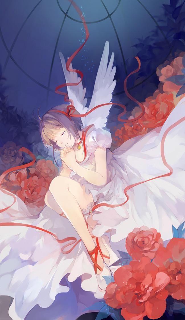 Tags: Anime, Nineo, Cardcaptor Sakura, Kinomoto Sakura, Fanart, Mobile Wallpaper
