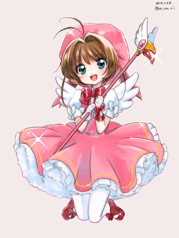 Tags: Anime, Ko Ru Ri, Cardcaptor Sakura, Kinomoto Sakura, Pixiv, Mobile Wallpaper, Fanart From Pixiv, Fanart, PNG Conversion