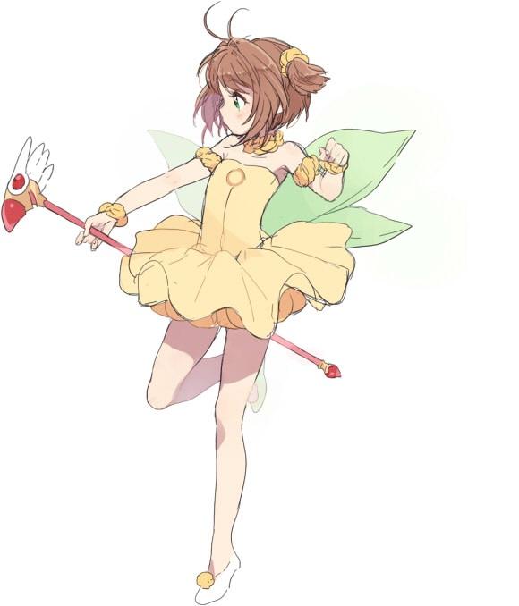 Tags: Anime, Tomo, Cardcaptor Sakura, Kinomoto Sakura, Sealing Wand (Dormant Form), Fanart From Pixiv, Pixiv, Fanart