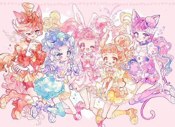 Tags: Anime, Pixiv Id 2150848, Kirakira☆Precure a la Mode, Cure Gelato, Kotozume Yukari, Cure Custard, Kenjou Akira