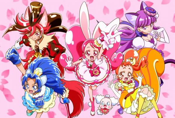 Tags: Anime, Pixiv Id 4588959, Kirakira☆Precure a la Mode, Arisugawa Himari, Cure Chocolat, Usami Ichika, Cure Macaron
