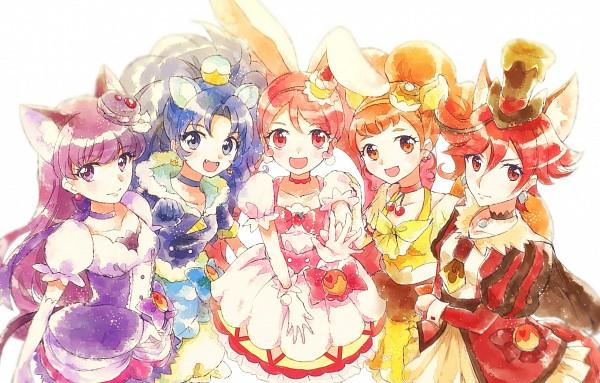 Tags: Anime, Pixiv Id 15435592, Kirakira☆Precure a la Mode, Cure Macaron, Usami Ichika, Cure Gelato, Kotozume Yukari
