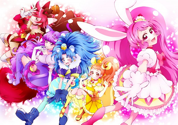 Tags: Anime, Pixiv Id 4996595, Kirakira☆Precure a la Mode, Cure Chocolat, Arisugawa Himari, Cure Macaron, Usami Ichika