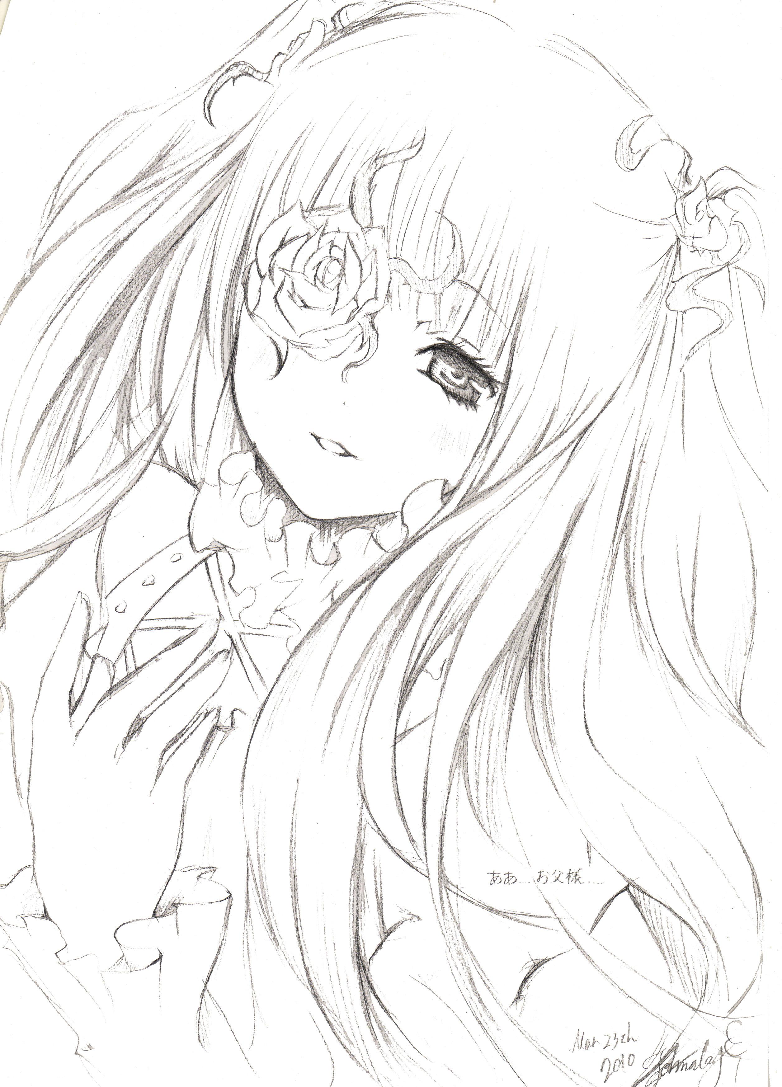 Zerochan Lineart : Kirakishou  zerochan