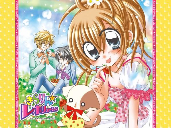 Tags: Anime, 1024x768 Wallpaper, Kirarin Revolution, Tsukishima Kirari, Naa-san, Kazama Hiroto, Hiwatari Seiji