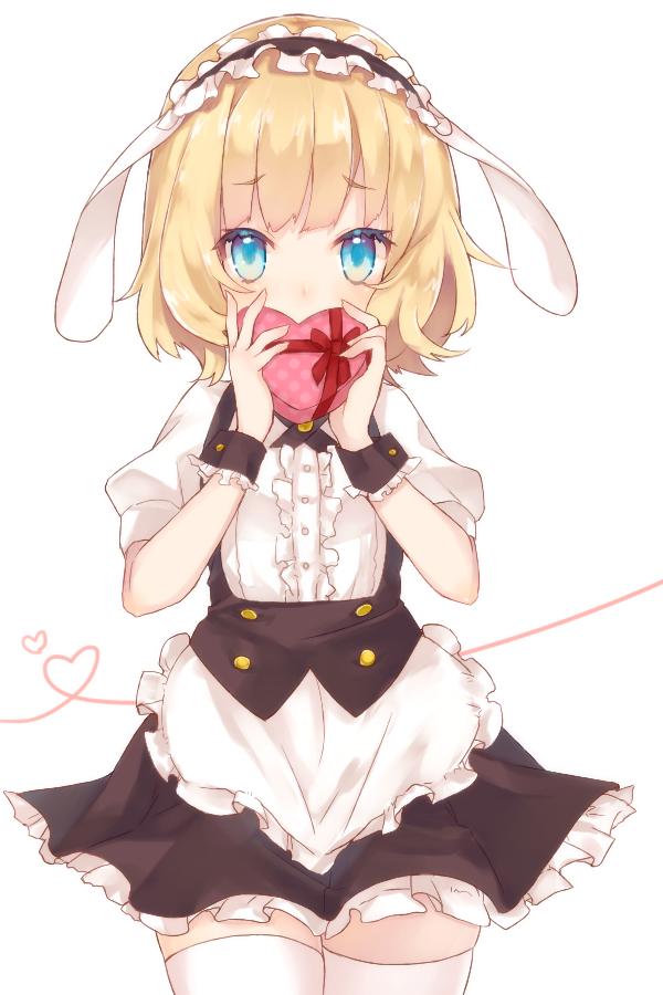 Tags: Anime, Pixiv Id 613685, Gochuumon wa Usagi Desu ka, Kirima Sharo, Chocolate Box, Heart Box, Fanart, PNG Conversion, Mobile Wallpaper