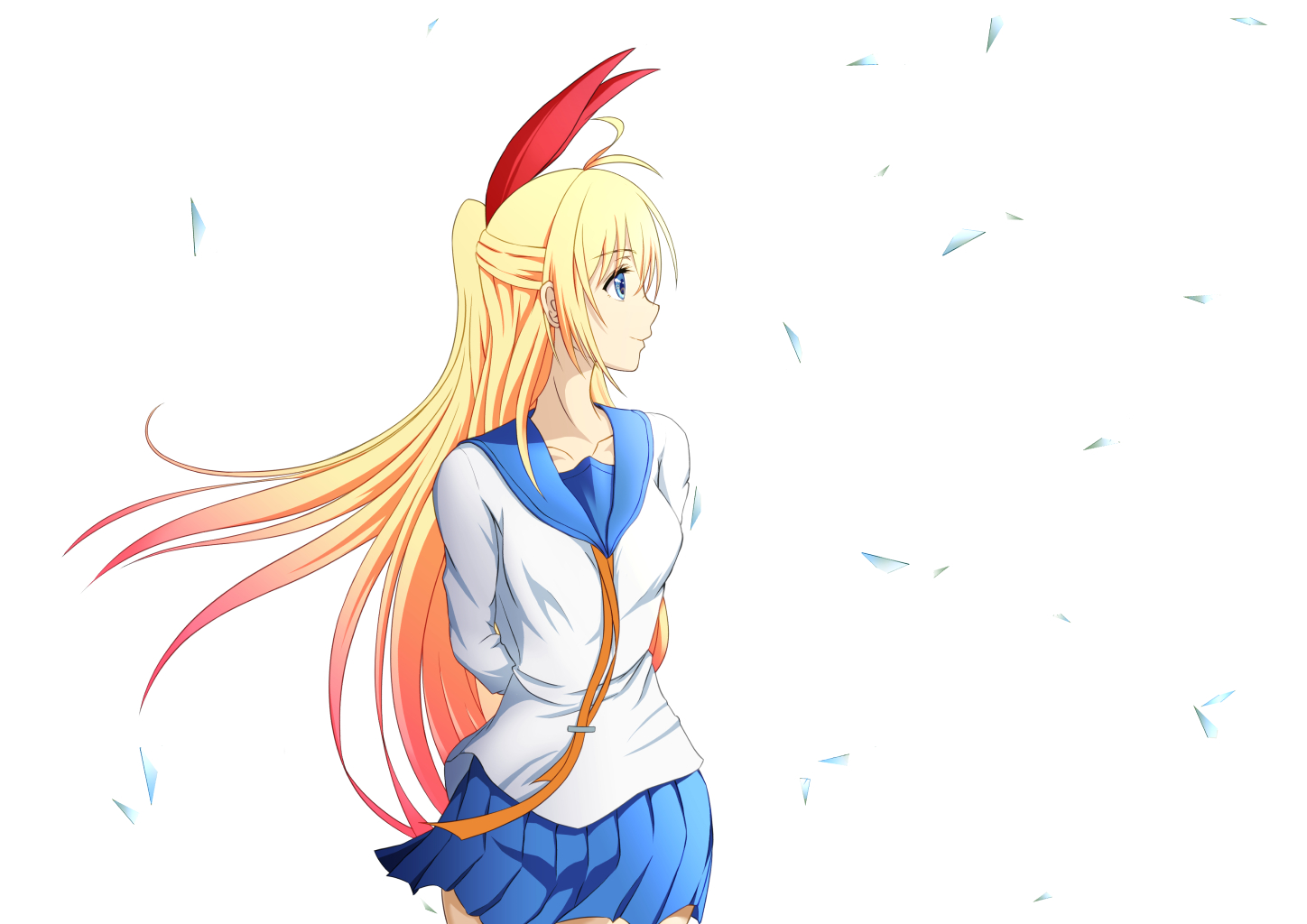 chitoge kirisaki transparent for kids - nisekoi PNG image with ... | 1024x1448