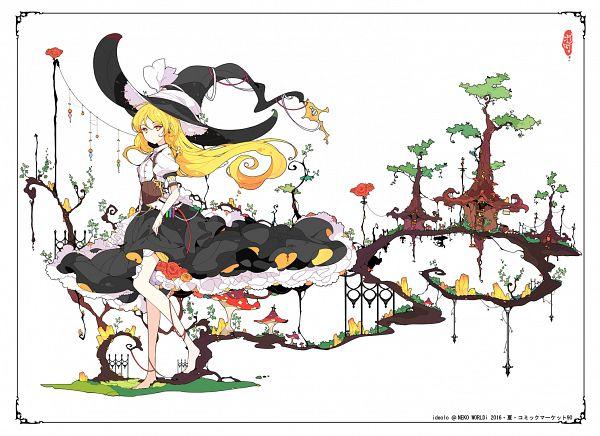 Tags: Anime, Ideolo, NEKO WORKi, Touhou, Kirisame Marisa, White Bow, Black Headwear