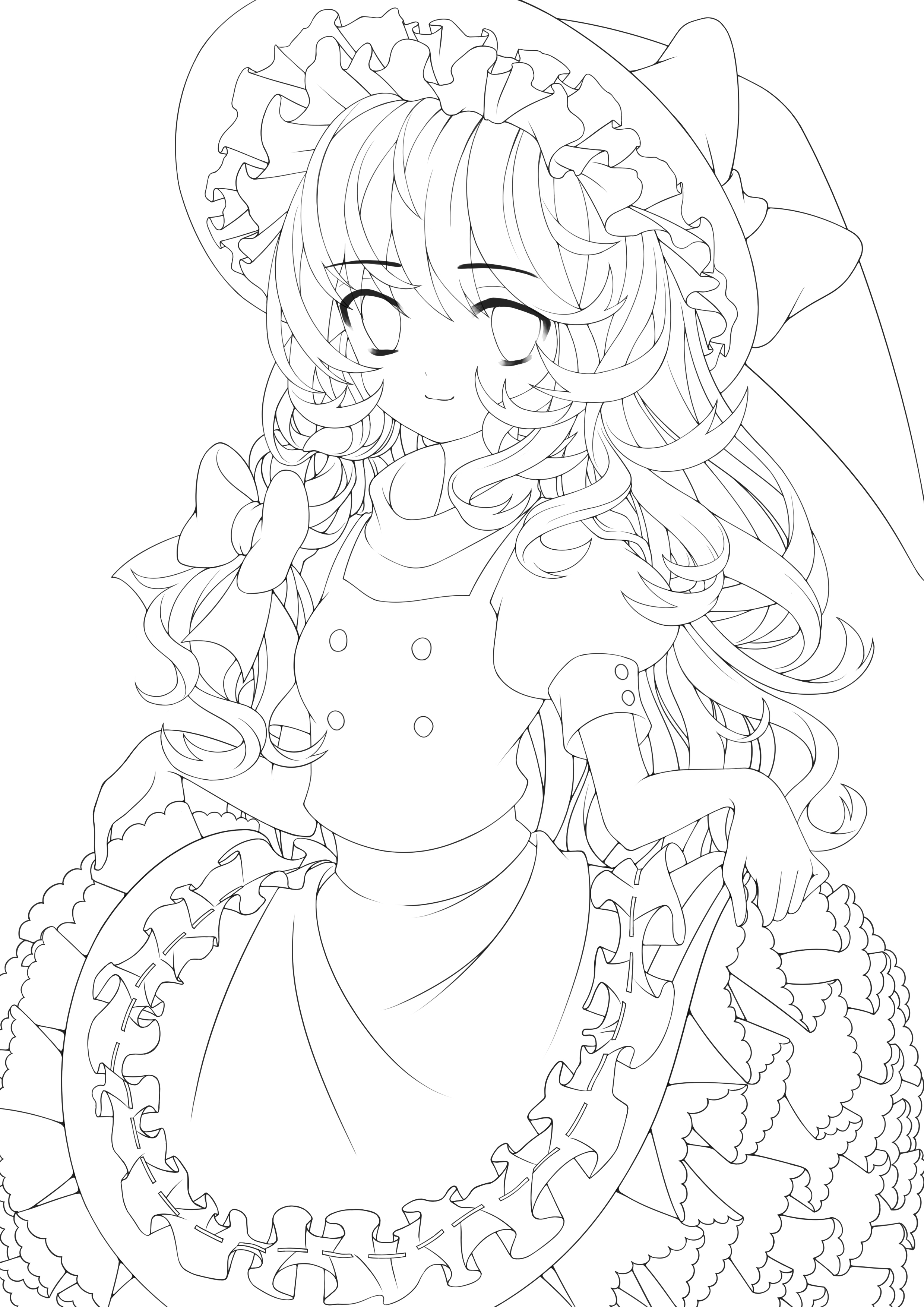 Zerochan Lineart : Kirisame marisa image zerochan anime board