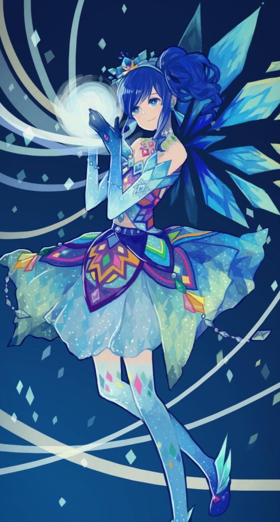 Tags: Anime, Blue, Blue Dress, Blue Gloves, Aikatsu!, Kiriya Aoi, Pixiv Id 1070722