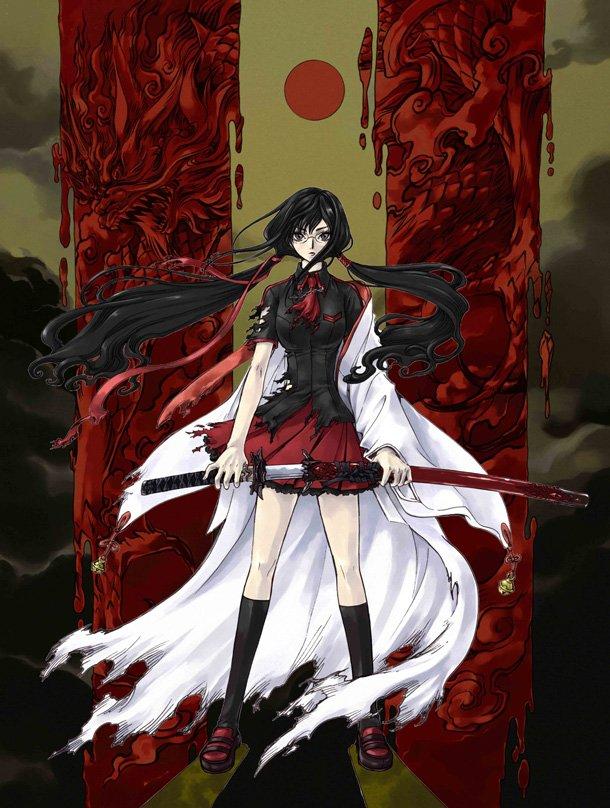 Tags: Anime, CLAMP, Blood-C, Kisaragi Saya, Official Art
