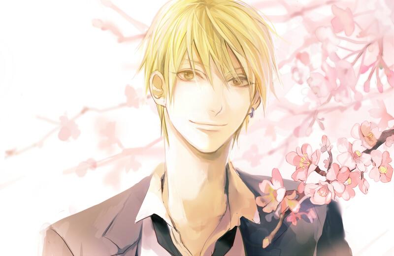 Аниме мальчик блондин