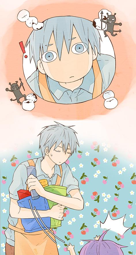 Tags: Anime, ddmoo, Kuroko no Basuke, Kuroko Tetsuya, Murasakibara Atsushi, Kindergarten Teacher, Mobile Wallpaper, Pixiv, Kiseki no Sedai, Generation Of Miracles
