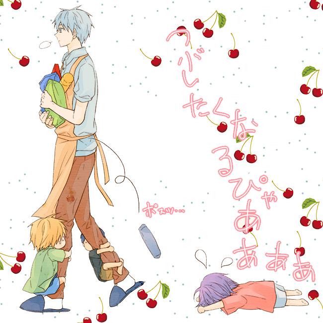 Tags: Anime, ddmoo, Kuroko no Basuke, Kise Ryouta, Aomine Daiki, Murasakibara Atsushi, Kuroko Tetsuya, Kindergarten Teacher, Toddler, Pixiv, Kiseki no Sedai, Generation Of Miracles