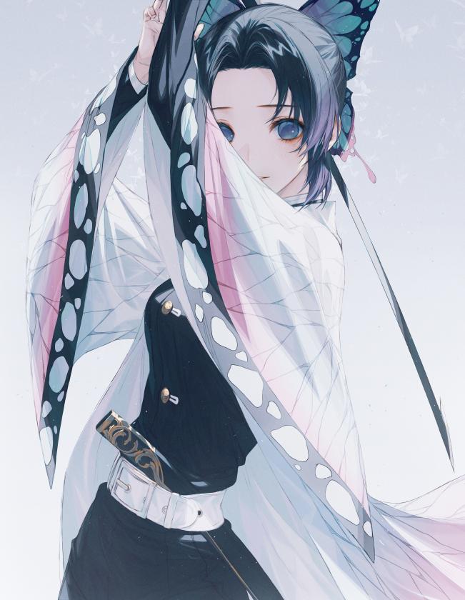Tags: Anime, ₩ANKE, Kimetsu no Yaiba, Kochou Shinobu, Fanart From Pixiv, Pixiv, Fanart