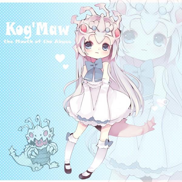 Tags: Anime, Konatsu Miyu, League of Legends, Kog'Maw, :3, Little Girl, Blue Ribbon
