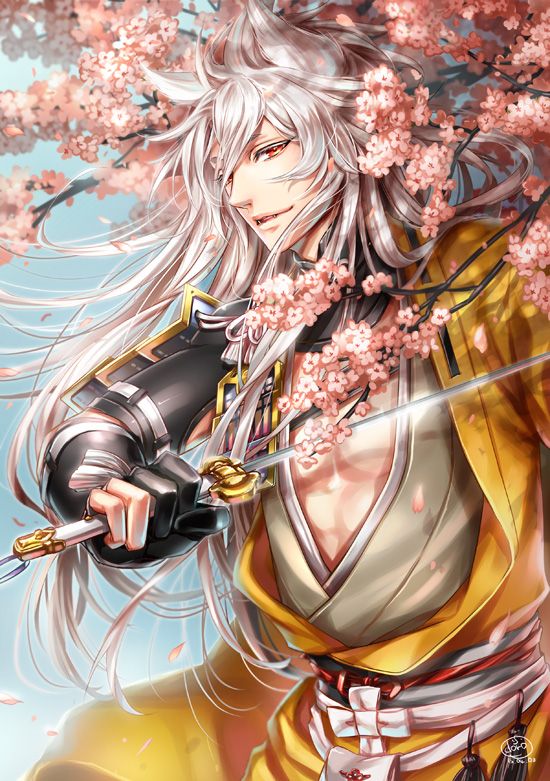 Tags: Anime, Himeichiko, Touken Ranbu, Kogitsunemaru, Fanart From Pixiv, Mobile Wallpaper, Pixiv, Fanart