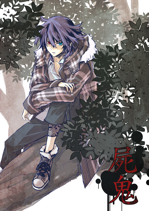 Tags: Anime, Ayao77, Shiki, Koide Natsuno, Pixiv, Mobile Wallpaper, Fanart