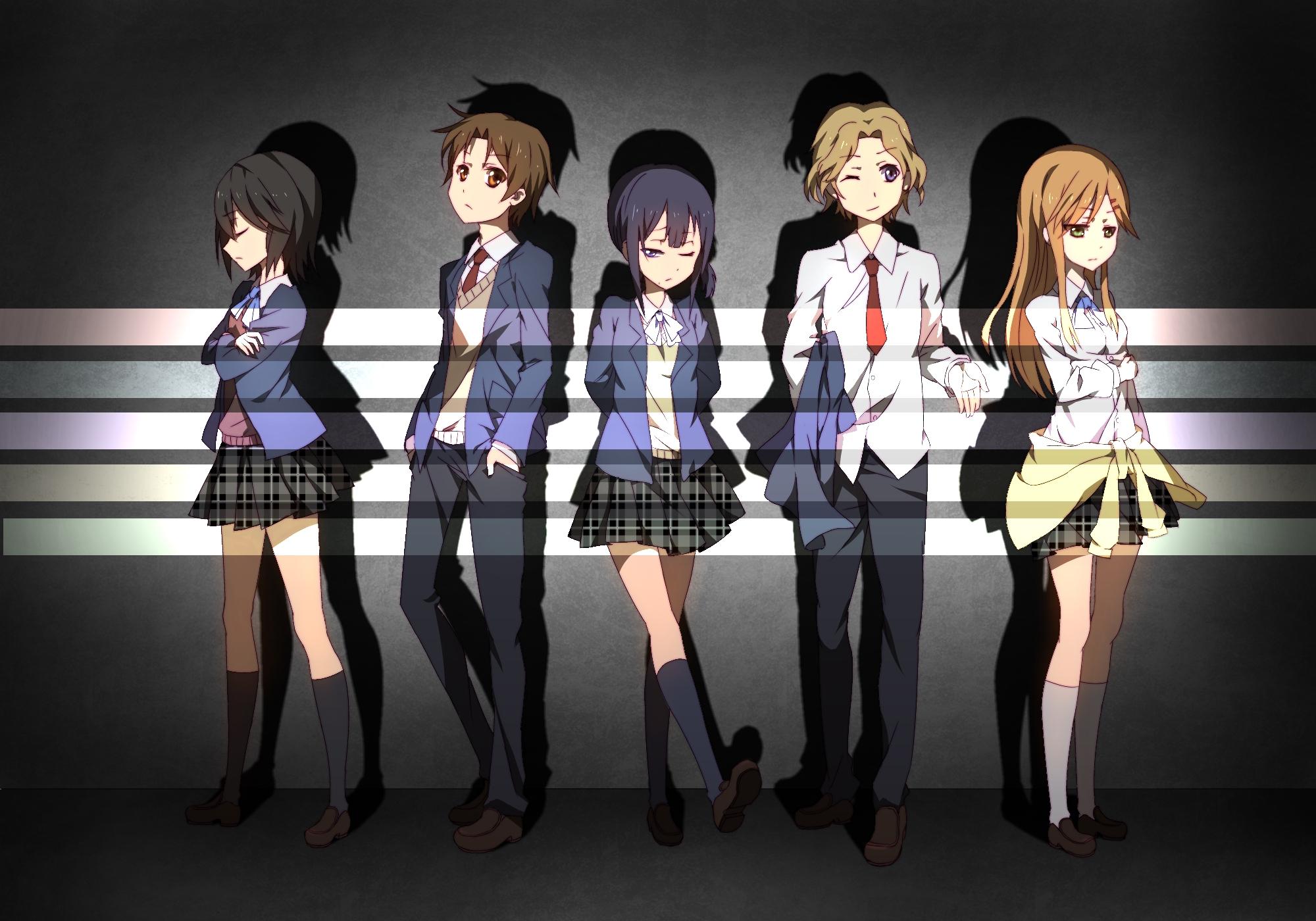 Tags: Kokoro Connect, Nagase Iori, Inaba Himeko, Kiriyama Yui, Aoki Yoshifumi, Yaegashi Taichi, Go Sai (475789336)
