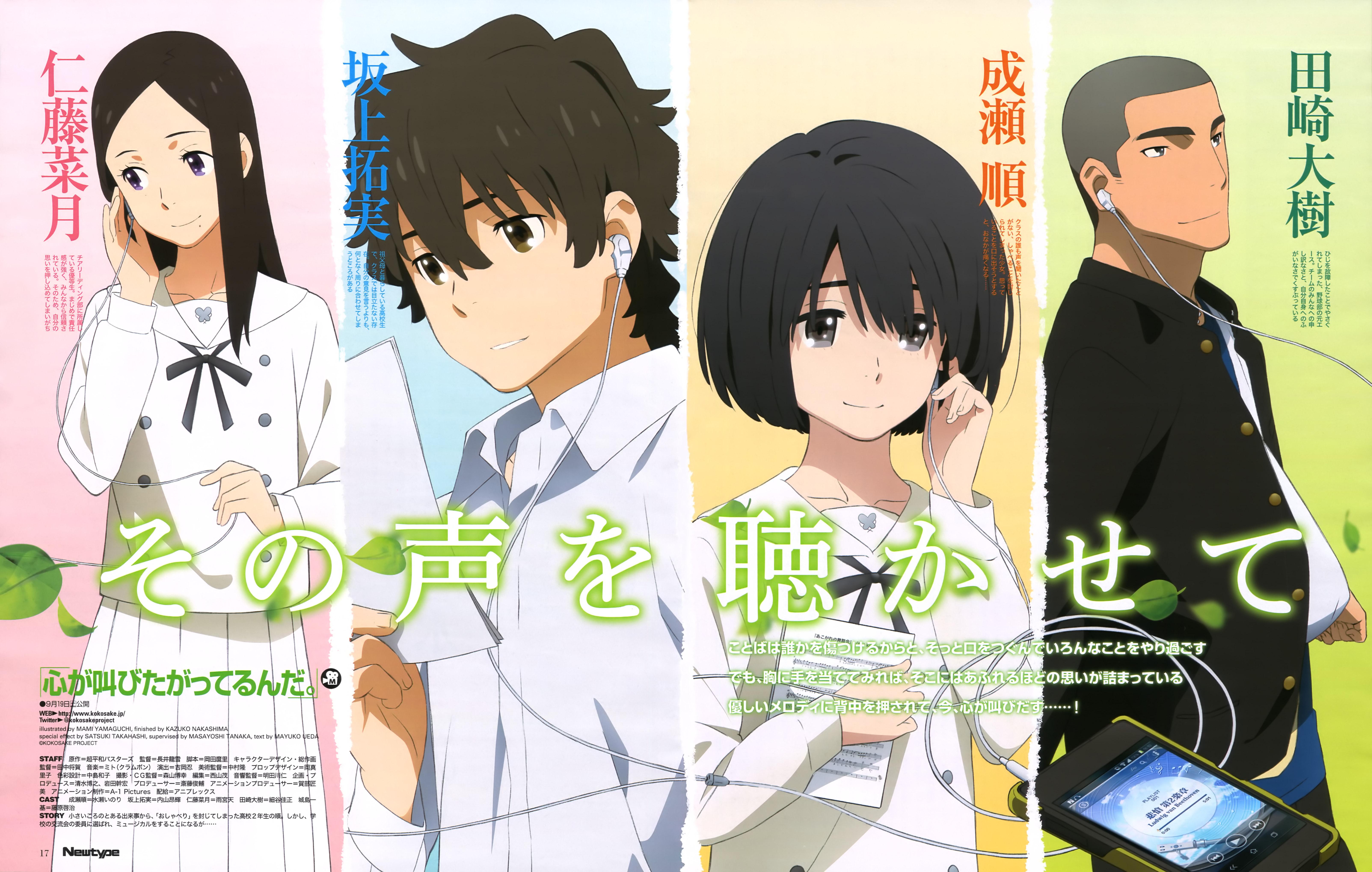 Kokoro Ga Sakebitagatterunda Zerochan Anime Image Board
