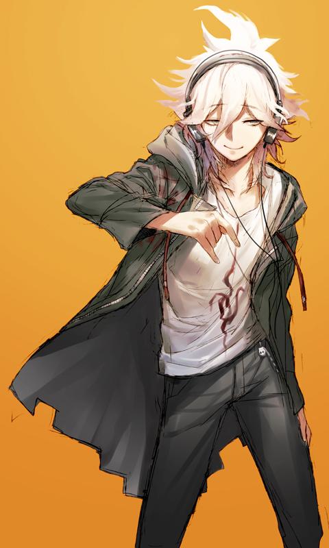 Tags: Anime, Kitunen, Super Danganronpa 2, Komaeda Nagito, Mobile Wallpaper, Pixiv, Fanart, Fanart From Pixiv
