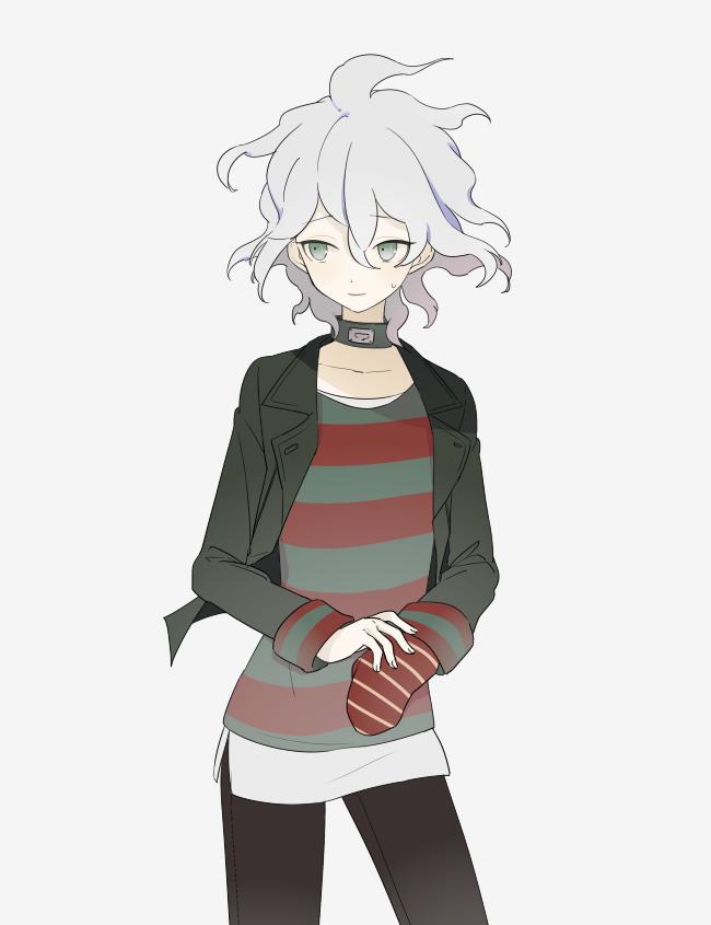 Tags: Anime, Pixiv Id 4537855, Zettai Zetsubou Shoujo - Danganronpa Another Episode, Komaeda Nagito, Fanart From Pixiv, PNG Conversion, Pixiv, Fanart