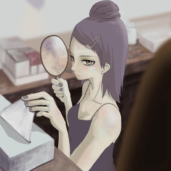 Tags: Anime, Pixiv Id 6844817, NARUTO, Konan, Labret Piercing, Fanart, Fanart From Pixiv, Pixiv