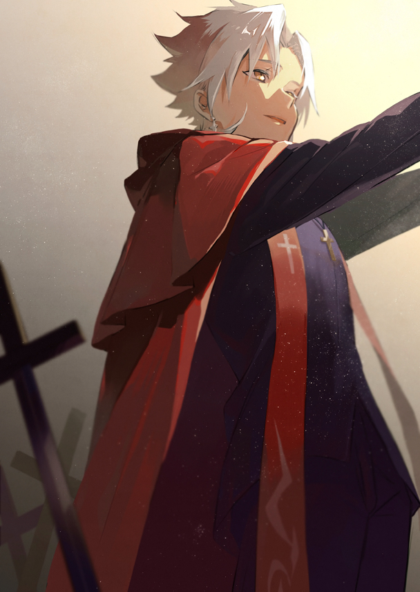 Tags: Anime, Sakamoto Bin, Fate/Grand Order, Kotomine Shirou (Fate/Apocrypha), Fanart, Pixiv