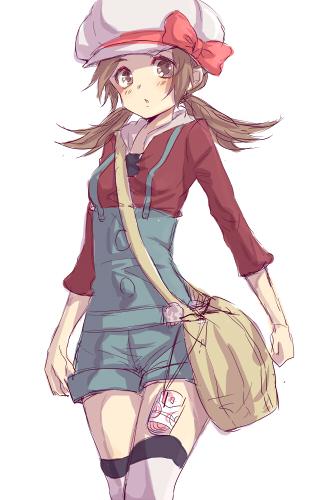 Tags: Anime, Harugano, Pokémon, Kotone (Pokémon), Messenger Bag, Cabbie Hat, Mobile Wallpaper, Pixiv, Fanart
