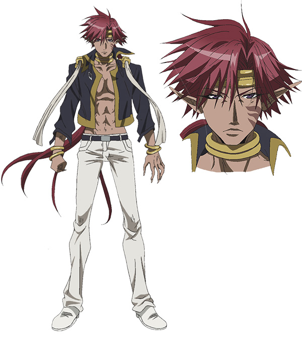 Tags: Anime, Satou Youko, Platinum Vision, Saiyuki, Kougaiji, Official Art, Character Sheet