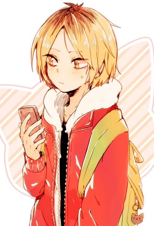 Tags: Anime, Shiuka (Shiupiku), Haikyuu!!, Kozume Kenma, Mobile Wallpaper, Fanart, Tumblr