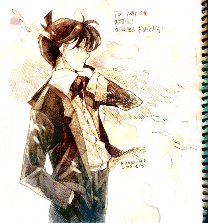 Tags: Anime, KKKKILTH, Meitantei Conan, Kudou Shinichi, Pixiv, Fanart, Fanart From Pixiv, Jimmy Kudo