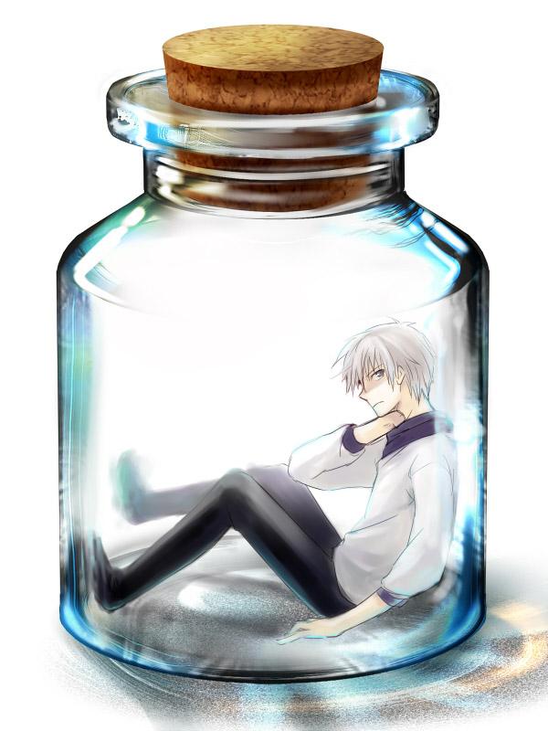 Tags: Anime, Pixiv Id 17832, Kamisama Dolls, Kuga Aki, In a Bottle