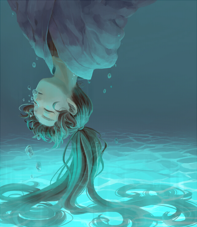 Как рисовать девушку под водой