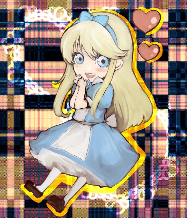 Tags: Anime, Alice in Wonderland, Shin Megami Tensei: PERSONA 4, Kuma, Alice (Alice in Wonderland) (Cosplay), Fanart, Pixiv