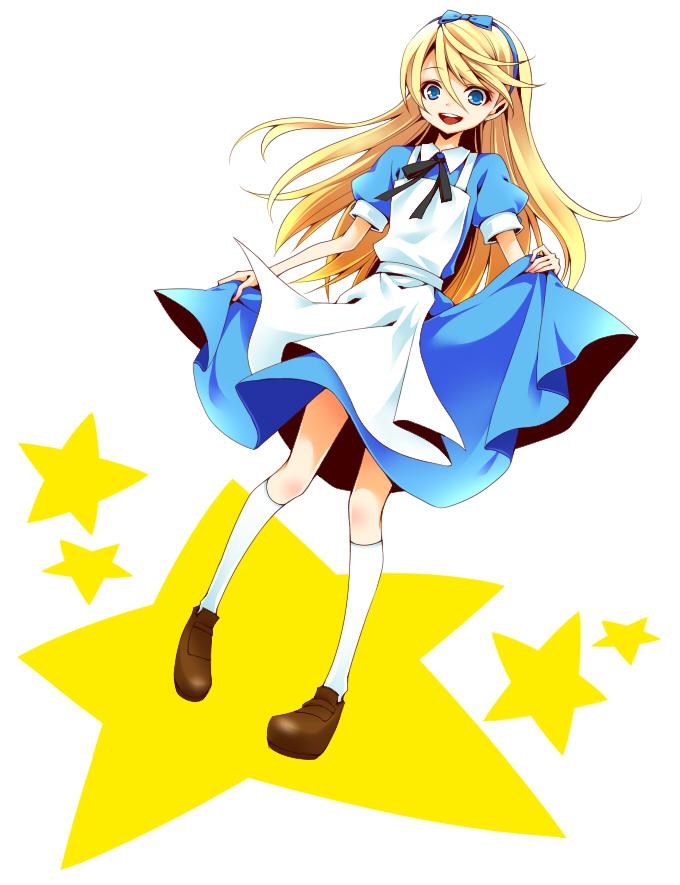 Tags: Anime, Pixiv Id 4356808, Alice in Wonderland, Shin Megami Tensei: PERSONA 4, Kuma, Alice (Alice in Wonderland) (Cosplay), Wig, Pixiv, Fanart From Pixiv, Fanart
