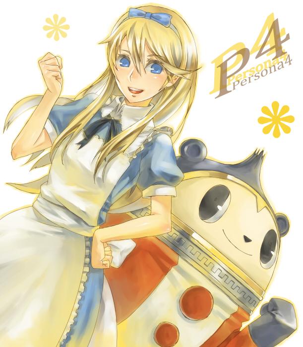 Tags: Anime, Nidy‐2D‐, Shin Megami Tensei: PERSONA 4, Alice (Alice in Wonderland), Kuma