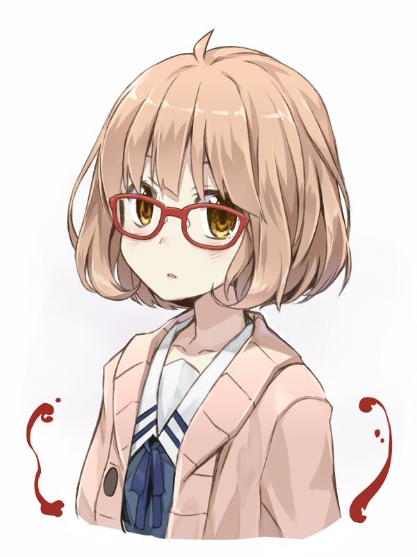 Tags: Anime, Amagai Tarou, Kyoukai no Kanata, Kuriyama Mirai, Pixiv