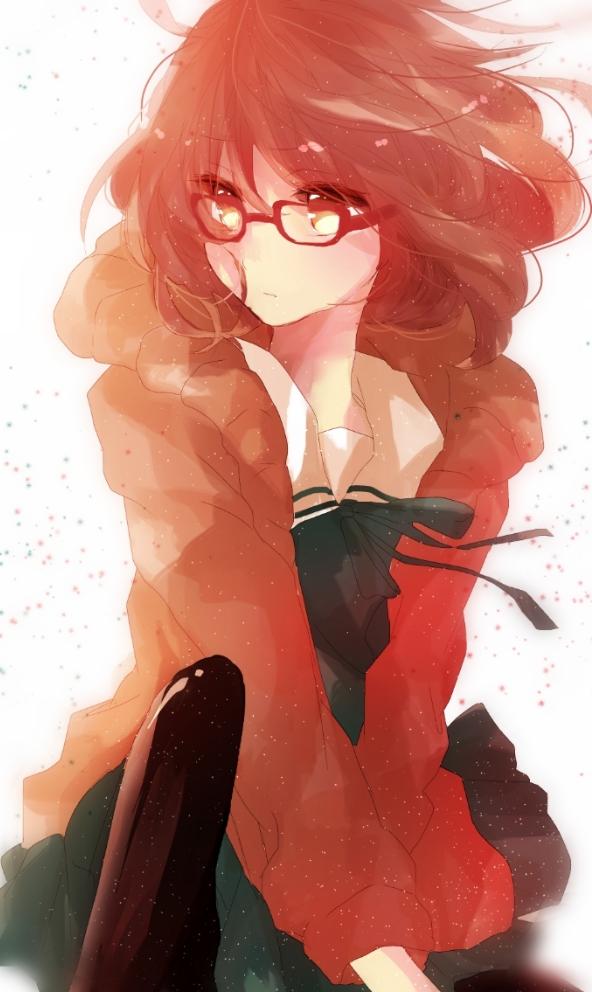 Tags: Anime, Pixiv Id 4341524, Kyoukai no Kanata, Kuriyama Mirai, Mobile Wallpaper
