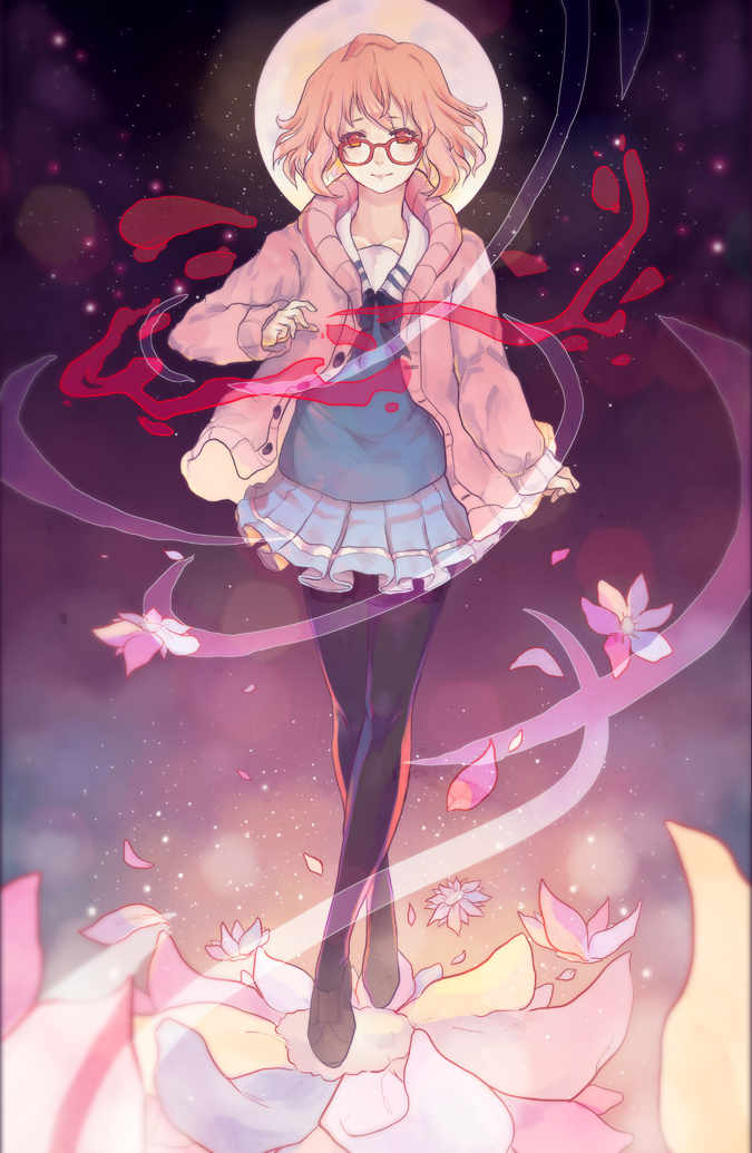 Tags: Anime, Lackless, Kyoukai no Kanata, Kuriyama Mirai, Fanart, Fanart From DeviantART, Mobile Wallpaper, deviantART