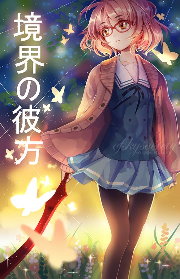 Tags: Anime, ofSkySociety, Kyoukai no Kanata, Kuriyama Mirai, Pink Sweater, Mobile Wallpaper, Fanart