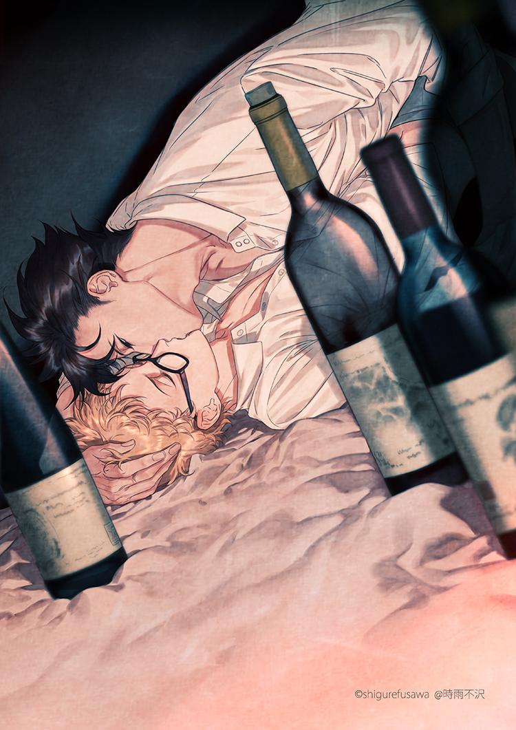 Аниме картинки парней с алкоголем