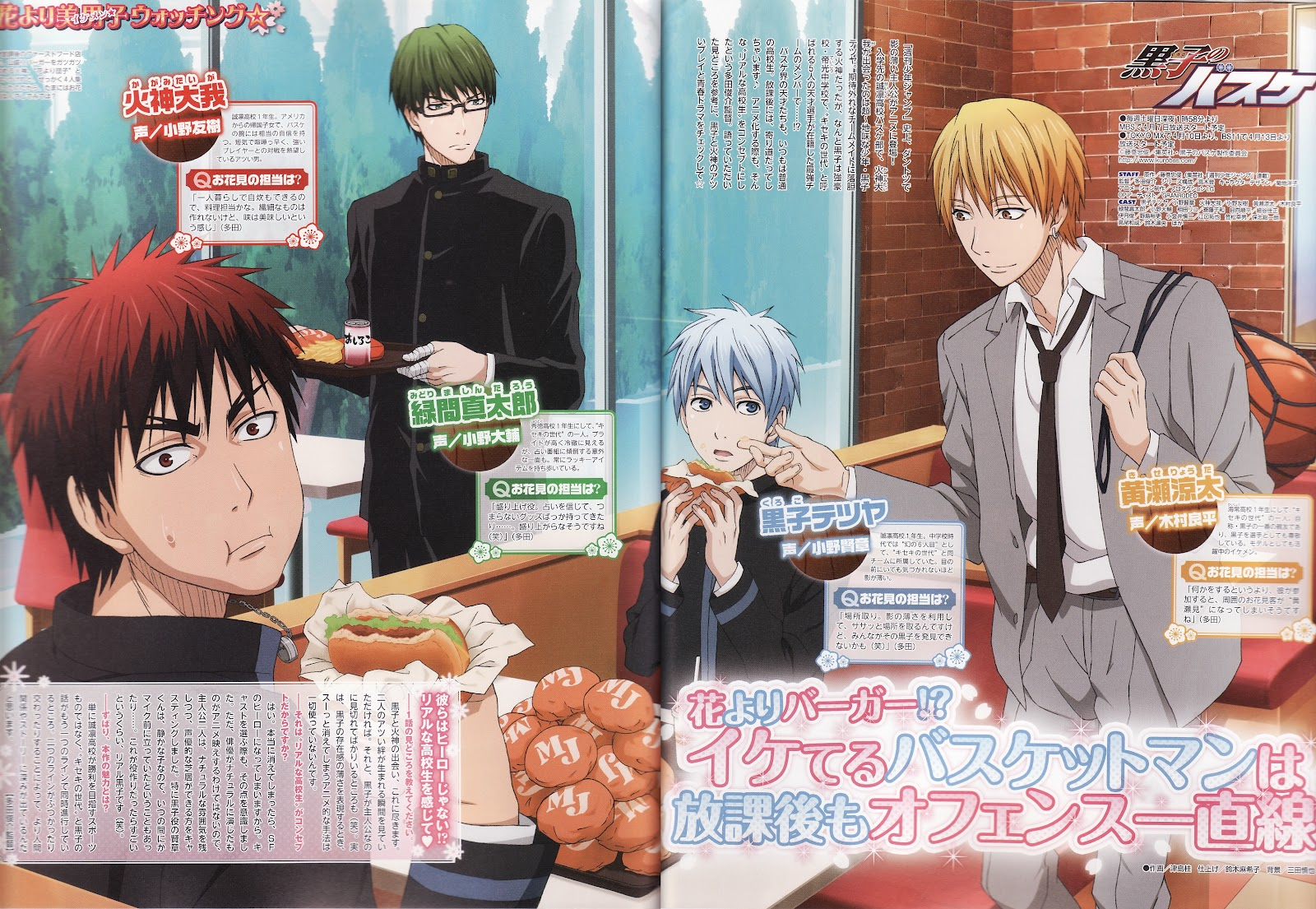 Tags anime four males kikuchi youko kuroko no basket kise ryouta