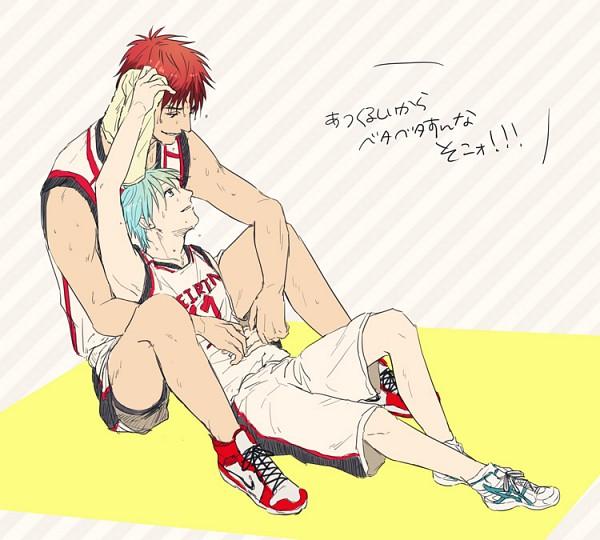 Tags: Anime, Towel, Kuroko no Basket, Kuroko Tetsuya, Kagami Taiga, Basketball Uniform, Mmm (Xbit)