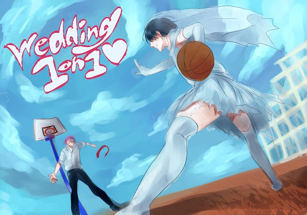 Murasakibara atsushi basketball ball torn clothes wedding dress