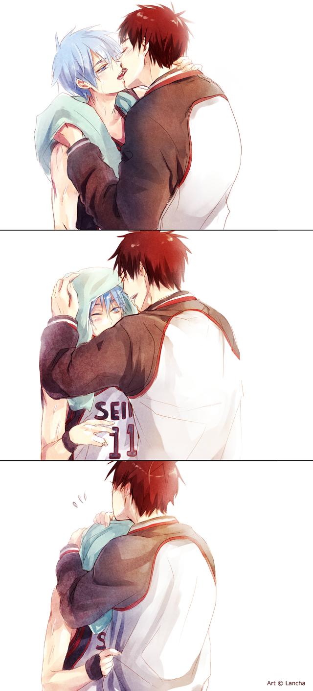 Tags: Anime, Lancha, Kuroko no Basuke, Kagami Taiga, Kuroko Tetsuya, Tumblr, Comic, Seirin High, Teikou Middle School, Kuroko's Basketball