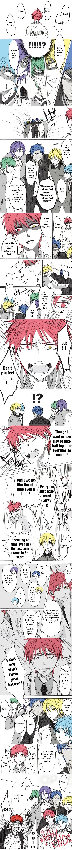 Tags: Anime, Pixiv Id 2547017, Kuroko no Basuke, Kagami Taiga, Kuroko Tetsuya, Akashi Seijuurou, Midorima Shintarou, Aomine Daiki, Kise Ryouta, Murasakibara Atsushi, Translated, Pixiv, Comic, Kuroko's Basketball